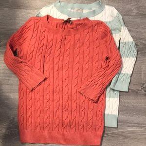 Loft set of sweaters